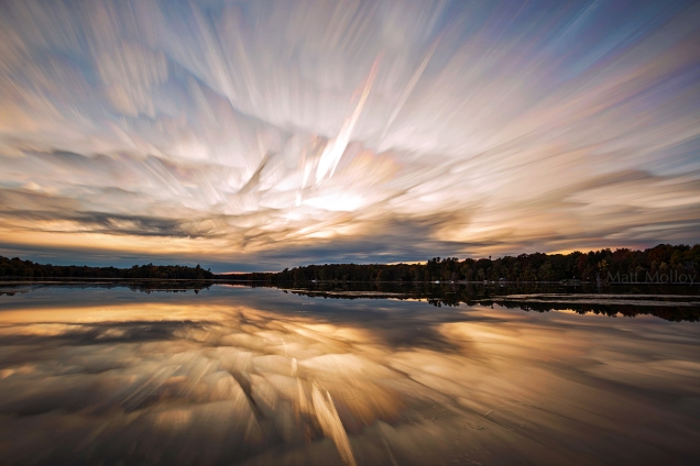 MattMolloy timelapse photography timestack photostack movement motion sunset sky clouds ghostly lake water reflection trees LittleCranberryLake SeeleysBay Ontario Canada landscape lovelife photographersontumblr