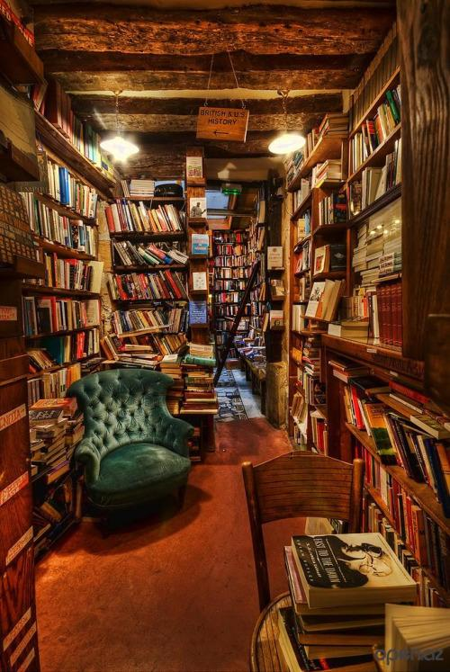 Are you a bookworm This is the awesome Shakespeare and Company bookstore located in Paris, France. You'll get lost here...