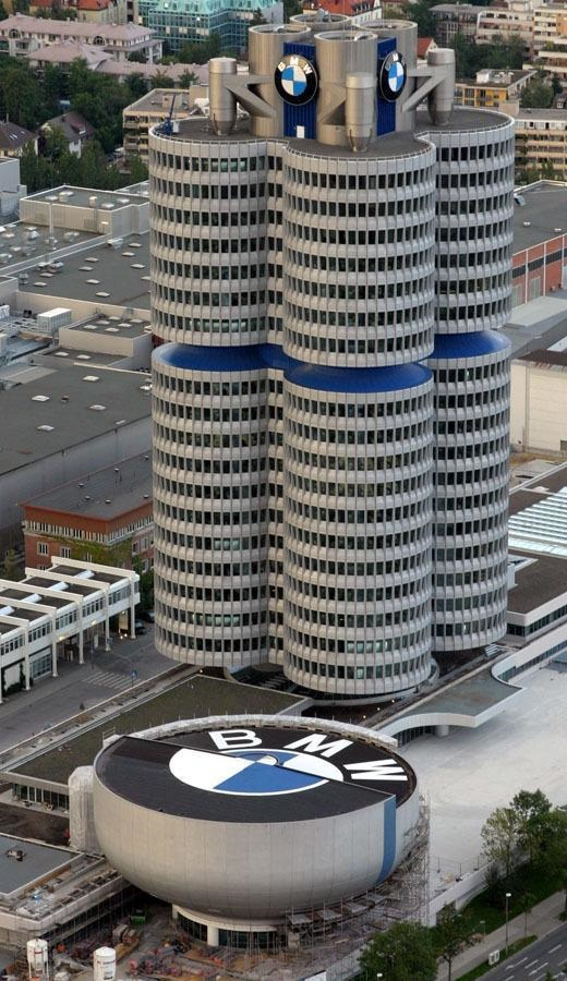 The BMW Headquarters in Munich, Bavaria, Germany