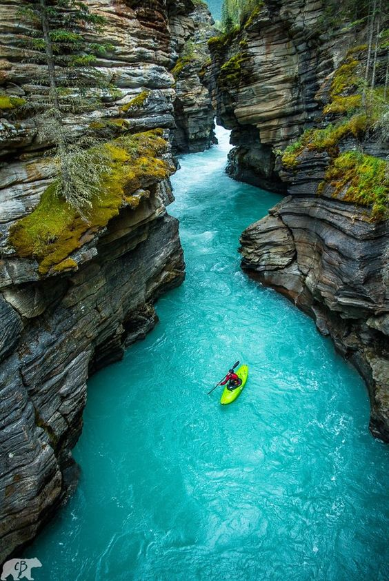 Athabasca Falls Canyon, Alberta, Canada. Photo by Chris Burkard